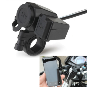 by DHL or Fedex 50 PCS Waterproof Motorcycle 5V 2 1A Power Socket USB Car Charger