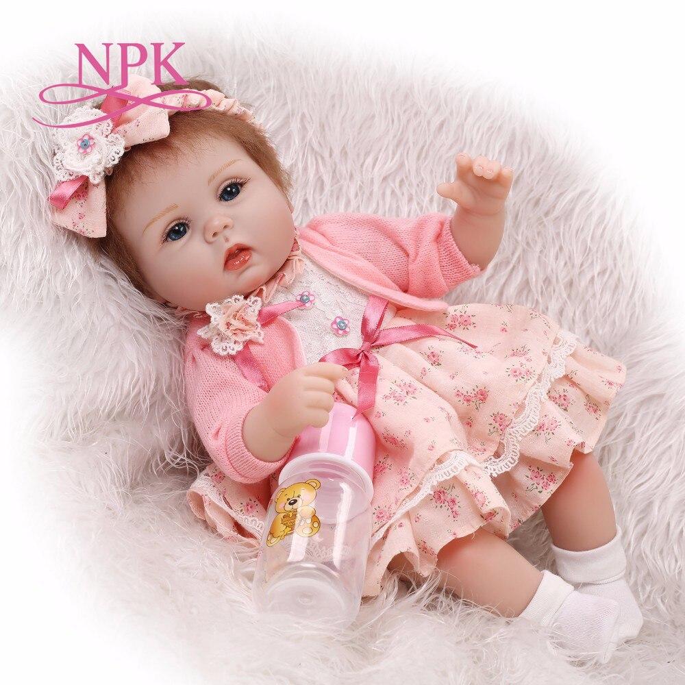 17 pouce réaliste reborn belle premmie bébé poupée réaliste reborn bébé jouer jouets pour enfants Cadeau De Noël