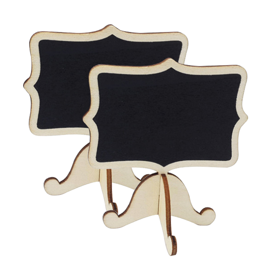 New 10pcs Mini Lace Blackboard Chalkboard Wooden Blackboard Price Stand For New Year Party Christmas Wedding Decoration