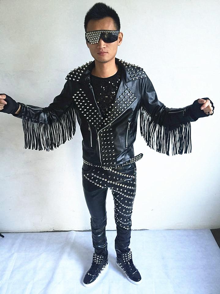 Cuir Punk Chanteur Veste Mâle 1 Vêtements Pour 2 Ds Homme 2017 Moto Dj Rivet De 3 M Gland Le En Halley Costume 3xl Mode waOqYZU