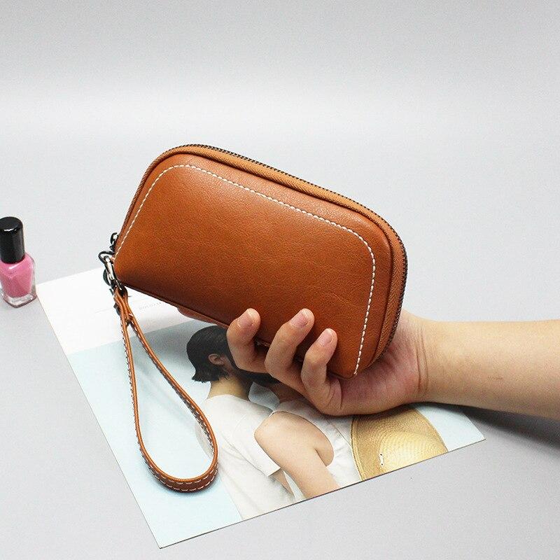 fceb80d9091d 2019 Leather Women Casual Wallets Coin Pocket Zipper Long Money Bags ...