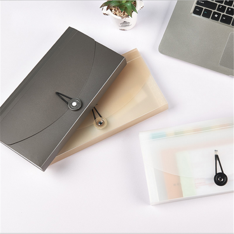 Fashion 13 Grids Document Bag Solid Color Mini Bill Receipt File Bag Pouch Folder Organizer File Holder Office Accountant Supply in File Folder from Office School Supplies