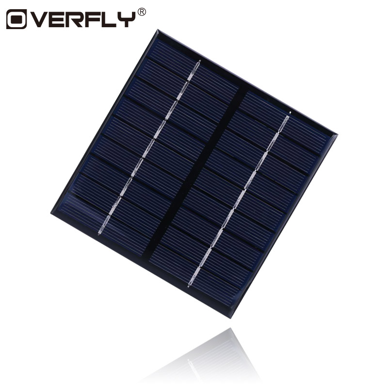 Overfly Solar Panel 2W 9V Portable Mini DIY Module Panel System For Battery Cell Phone Chargers
