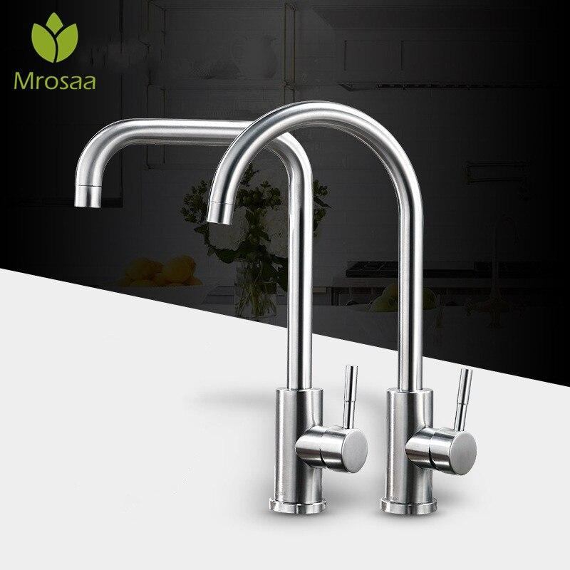 Küche Wasserhahn 360 Drehen Silber Mixer Wasserhahn für Küche Warmen und Kalten Wasser Mischer Tap Swivel Deck Montiert Kran für waschbecken