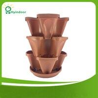 3 stuks een kit balkon verticale stapelen potten