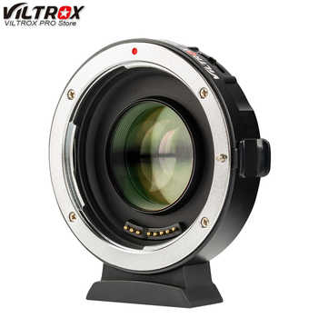 Viltrox EF-M2 II AF EXIF 0.71X Reduce Speed Booster Lens Adapter Turbo for Canon EF lens to M43 Camera GH4 GH5 GF6 GF1 - DISCOUNT ITEM  0% OFF All Category