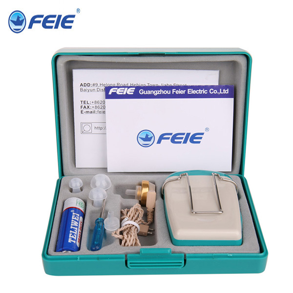 10 PCS per Lot Wholesale Bulk Buy from Guangzhou Feie Portable Hearing Amplifiers S-18 for old people