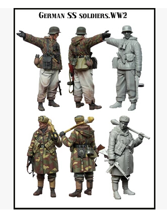 Resin Kits 1 35 Scale german SS soldier ww2 Resin Model Free Shipping