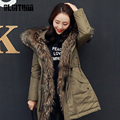 OLGITUM 2017 Brand Winter Casual Jacket Women Style Down Parka 100% White duck down Slim Warm fur Collar Hooded Down Coat CD578