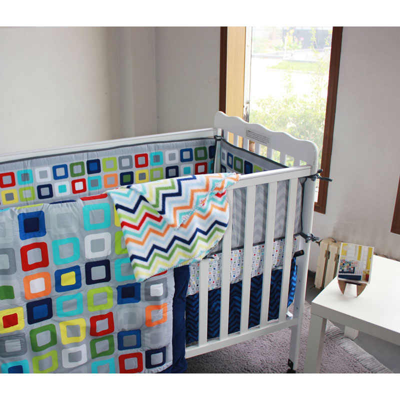 Detail Feedback Questions About Baby Boy Crib Bedding Set Colorful