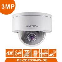 Original HIK PTZ DS 2DE3304W DE 4 0MP Dome IP Camera Videcam Surveillance Cam Alarm System