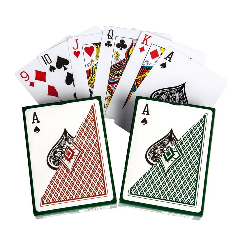 Kartu Bermain Plastik Berlian - 88 * 63mm Kartu Poker Set Bermain Kartu Pokerstars Party Game
