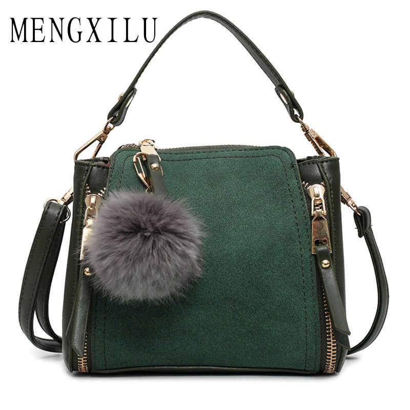 741402e97486 Новая горячая Распродажа Сумка Для женщин Курьерские сумки женские плеча  Crossbody сумки Высокое качество замши сумочка
