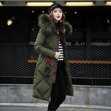 Women Winter Coat 2018 New Large fur collar Jackets Women's Hooded X-Long Coat  Parkas Plus Size Outerwear