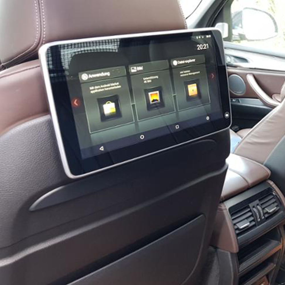Автомобиль телевизор dvd-плеер головы Поддержка монитор подголовника Android для BMW X5 F15 2018 задние сиденья Развлечения Системы ТВ Экран