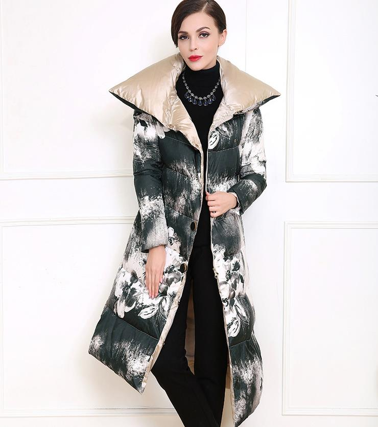 2016 New Women Winter Large Turn Down Collar Cotton Down Jacket Woman Parka Womens Coats Thick