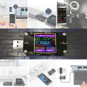 Image 2 - Voltmètre numérique, testeur USB A3 Bluetooth couleur type c voltmètre à tension cd indicateur de chargeur damcailles