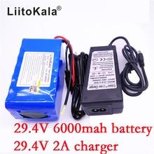 HK 7S3P LiitoKala 24 V 6Ah batería 18650 batería 29.4 v 6000 mah li-ion bicicleta eléctrica ciclomotor/eléctrica $ number un cargador