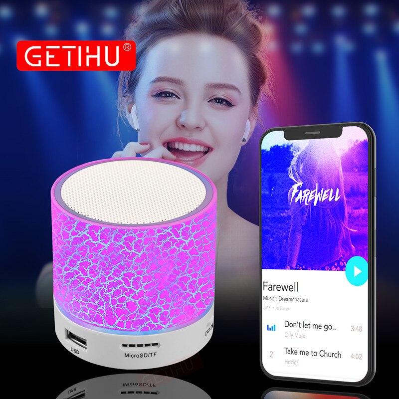 Getihu Led Bluetooth Lautsprecher Drahtlose Tragbare Mini Hände Freies Lautsprecher Tf Usb Fm Mic Blutooth Musik Für Iphone 8 X Handy
