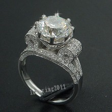 Luxe Eiffeltoren Vrouwen Mannen Sieraden Ring 9 Mm Aaaaa Zirkoon Cz 925 Sterling Zilver Engagement Wedding Band Ringen Voor vrouwen Gift
