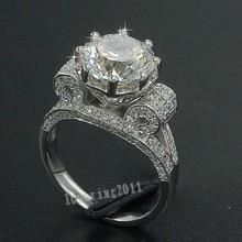 Luxury Eiffel Tower Women Men Jewelry ring 9mm AAAAA Zircon Cz 925 Sterling silver Engagement Wedding Band Rings for women Gift