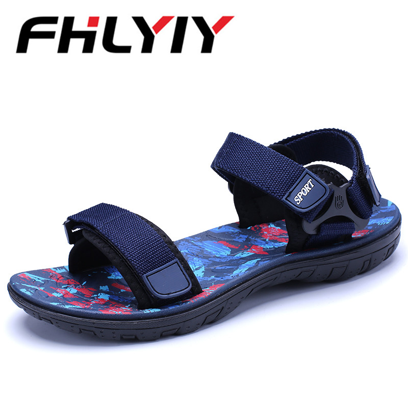 Summer Men Sandals Flat Upstream Shoes Male Camouflage Casual Beach Shoes Walking Flip Flops Gladiator Sandals Zapatos Hombre