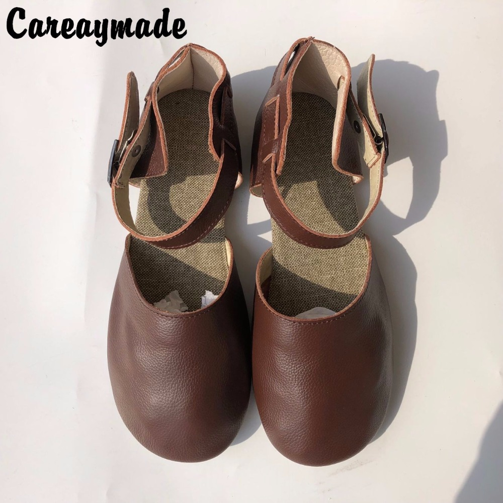 Careaymade-Hot selling 2018 new pure Handmade leather shoes ,Sen female casual shoes,Rome style retro female shoes,size 4.5-8 huifengazurrcs new pure handmade casual