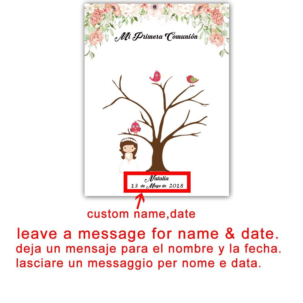 Personalizzato Mi Primera Comunione Fai Da Te Fingerprint Guestbook