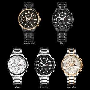 Image 5 - NAVIFORCE Relogio Masculino Herrenuhren Top marke Luxus Schwarz Stahl Quarzuhr Männer Casual Sport Chronograph Armbanduhr