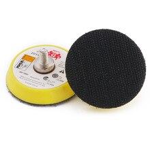 Plaque de disque de polissage de support de ponçage de crochet et de boucle de meuleuse électrique de 2 pouces