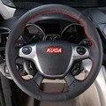 Sew-em couro genuíno cobertura de volante de carro acessórios Do Carro Para Ford Kuga Fuga 2013 2014