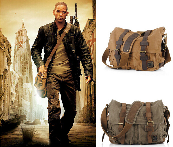 Messenger Bag Men's Vintage Canvas School Military Shoulder Bag ...