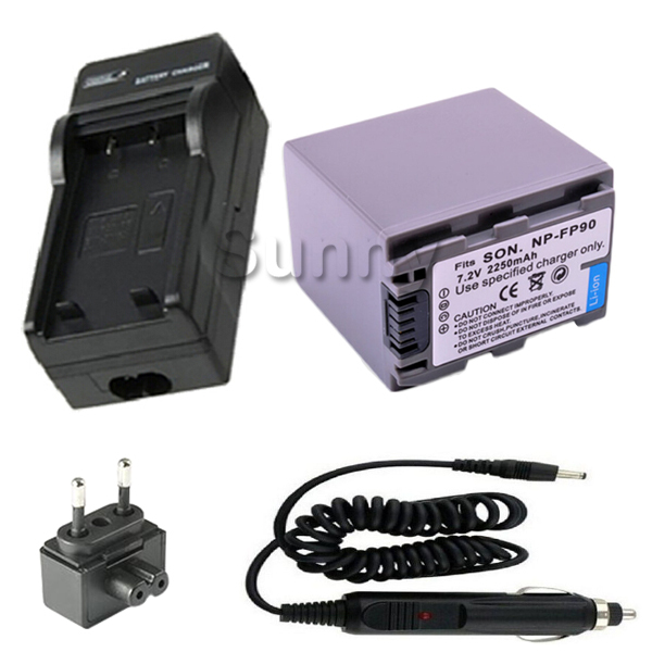 Batterie et Chargeur pour Sony NP-FP90 NP FP30 FP50 FP60 FP70 FP90 NPFP30 NPFP50 NPFP60 NPFP70 NPFP90 Rechargeable InfoLITHIUM