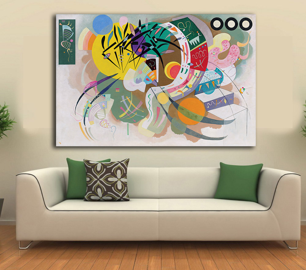 online get cheap kandinsky posters aliexpress com alibaba group dominant curve by wassily kandinsky decoration paints home decor on canvas modern wall art canvas print poster canvas painting