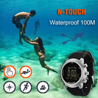 2019 New Men Diving Watch LED Digital Military Watch Waterproof 50M Dive Swimming Sport Watches Wristwatch Compass Altimeter