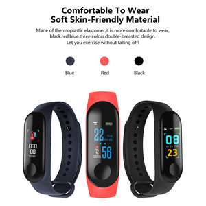 Image 2 - M3 inteligentna bransoletka sportowa Fitness Tracker reloj inteligente opaska na nadgarstek Monitor 0.96 cal opaska z pulsometrem
