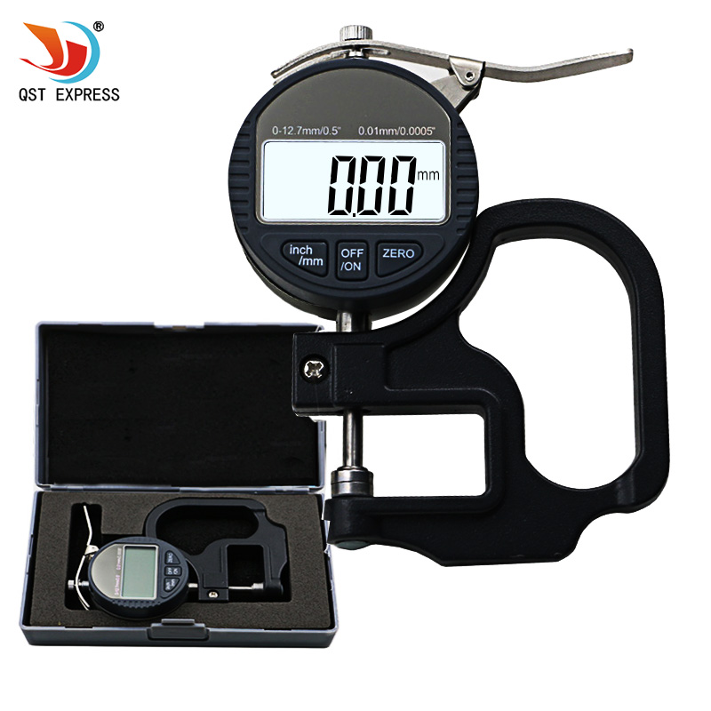 Medidor de espesor electrónico de 12,7mm 0mm 0,01/0,5 pulgadas medidor de espesor de micrómetro Digital instrumentos de medición de ancho de Micrometro Dat