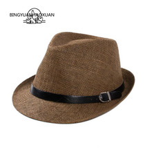 BINGYUANHAOXUAN Summer Beach Sun Hat for Men & Women Panama Straw Fashion