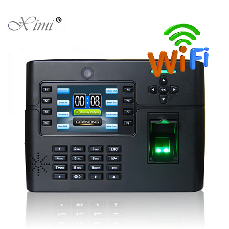 ZK IClock900 WIFI TCP/IP Biometric Fingerprint Access Control And Time Attendance Time Recorder With Backup Battery And Camera