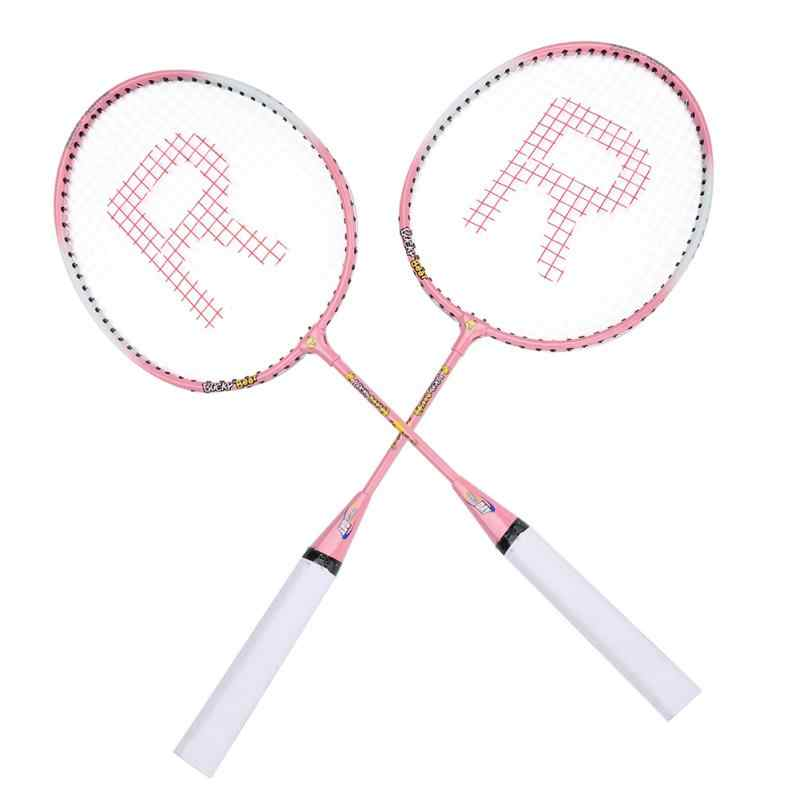 Professional Badminton Rackets Light Weight Ferroalloy Badminton Rackets for Kids Teenager