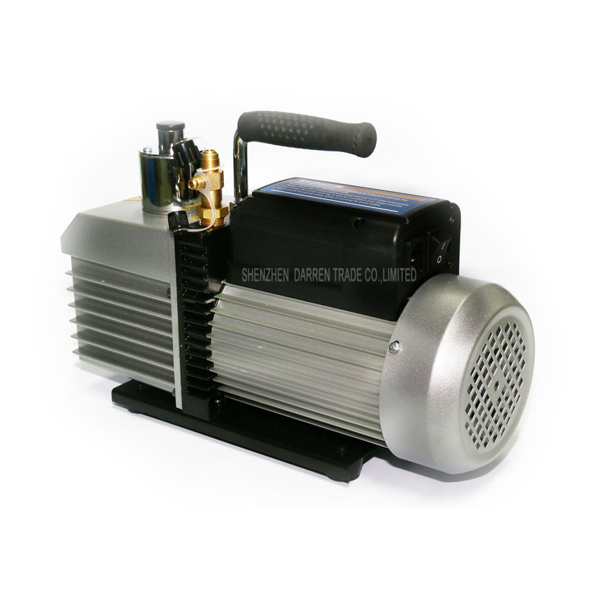 2PC 100% New and High Quality Electric Dual voltage vacuum pump Dual-frequency two-stage 110V-220V 375W with 2L