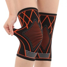 1 Pcs Knee Support Nylon Knee Pads Sleeve for Basketball Knee Brace for Fitness Running Cycling Knee Pad Elastic Sport pressurized fitness running cycling knee support braces elastic nylon knee pads nylon silk sports protective gear knee pads back