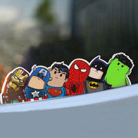 Super Hero Hitchhike Cheapest American Hero Very Cool Car Styling Awesome 3d Carbon Car Sticker Car
