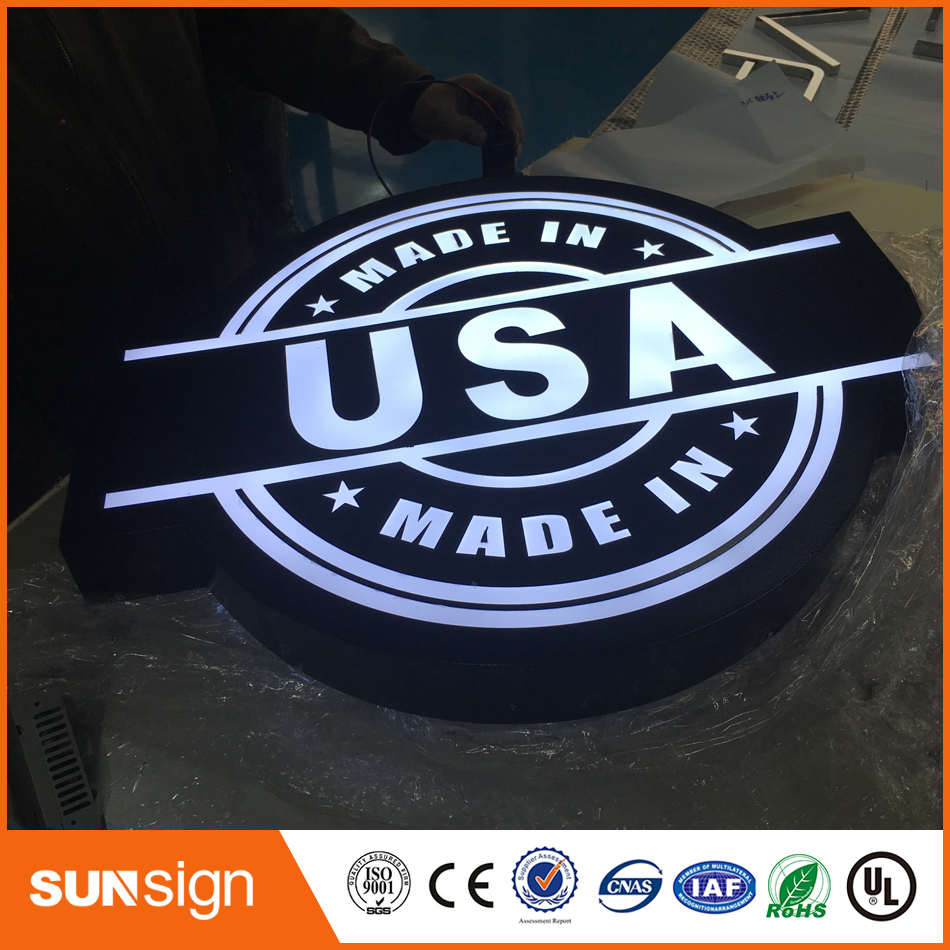 New Design Customized No Fixed Part Circle Led Light Box
