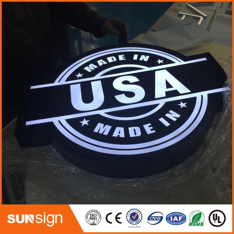 New Design Customized No Fixed Part Circle Led Light Box
