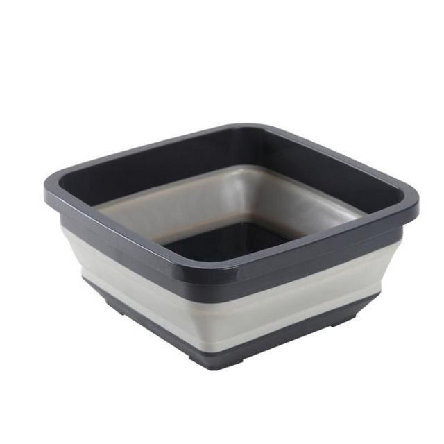Folding Washbasin Retractable Household Wash Foam Foot Portable Thickened Kitchen Washing Basin Travel Outdoor Folding Basin
