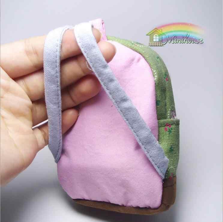 Оригинальный рюкзак Барби ручной работы BJD 1/6 Сумка Школьные Аксессуары для Барби настоящая сумка Аксессуары для кукольного домика для путешествий