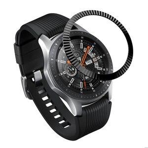 Image 5 - Lünette Ring Styling für Samsung Getriebe S3 Frontier Galaxy Uhr 46mm/42mm/Getriebe S2 Klassische Smart armband Ring Fall Schutz Abdeckung