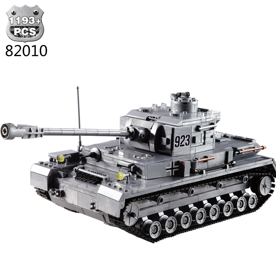 1193pcs Military Series Super Tank F2 Building Blocks German Military Bricks Playmobil Compatible Legoing Military Bricks Toys mf2300 f2