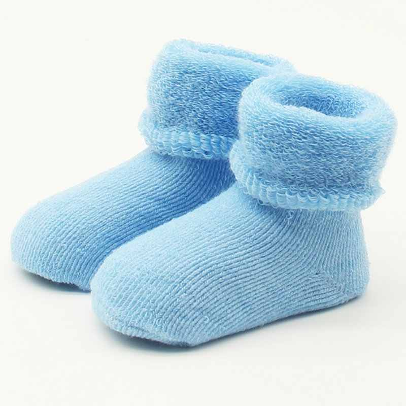 Baby Meisjes Jongens Pasgeboren Baby Winter Warme Laarzen Peuter Kinderen Zachte Katoenen Sokken Booties voor 0-2 Y baby